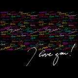Calligraphic background for valentine's day Stock Photos