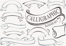 Calligraphic Banner Set Royalty Free Stock Photos
