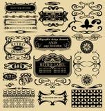 Calligraphic beståndsdelar och sidagarnering Arkivfoton