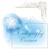 Calligraphic birds corner Royalty Free Stock Images
