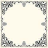 Calligraphic border frame. Design template for wedding greeting card, invitation, menu Stock Image