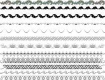 Calligraphic Borders Royalty Free Stock Photos
