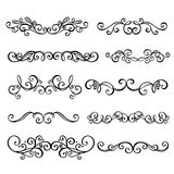 Calligraphic Borders anctor d Page Decoration Stock Image
