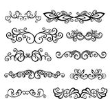 Calligraphic Borders anctor d Page Decoration. Vector Set: Calligraphic Borders and Page Decoration Stock Photo