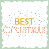 Calligraphic Christmas card with retro design. Jingle all the way. Vector illustration for card, postcard, greeting card. Royalty Free Stock Photo