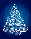 Calligraphic Christmas lettering Stock Photos