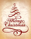 Calligraphic Christmas lettering Royalty Free Stock Photo