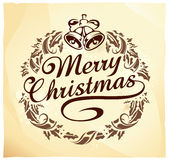 Calligraphic Christmas lettering Stock Photo