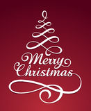 Calligraphic Christmas lettering Royalty Free Stock Photography