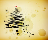 Calligraphic christmas tree Royalty Free Stock Photos