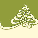 Calligraphic Christmas tree Royalty Free Stock Image