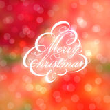Calligraphic Christmas tree on bokeh background. Vector illustration Stock Photography