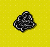 Calligraphic Christmas tree in unusual colors Royalty Free Stock Photo