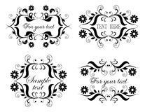 Calligraphic collection Stock Photography