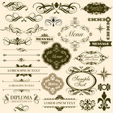 Calligraphic decorative design elements set Royalty Free Stock Photography