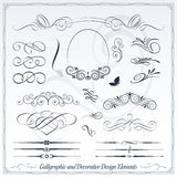 Calligraphic and Decorative Design Elements Stock Photography