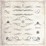 Calligraphic and Decorative Design Elements Stock Image