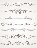Calligraphic Decorative Elements. Royalty Free Stock Image