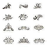 Calligraphic Decorative Elements And Ornaments In Stock Image