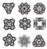 Calligraphic decorative elements Stock Image