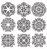 Calligraphic decorative elements Royalty Free Stock Image