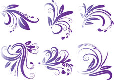 Calligraphic decorative elements with lines Royalty Free Stock Photo