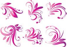 Calligraphic decorative elements with lines Stock Photo