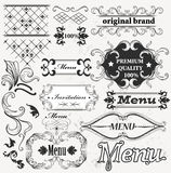 Calligraphic decorative elements for menu design Royalty Free Stock Images