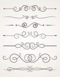 Calligraphic decorative elements. Royalty Free Stock Image