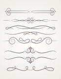 Calligraphic decorative elements. Stock Images