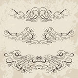 Calligraphic decorative elements. Set of design elements. Royalty Free Stock Photos