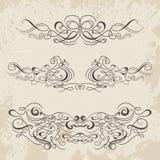 Calligraphic decorative elements. Set of design elements. Royalty Free Stock Photos