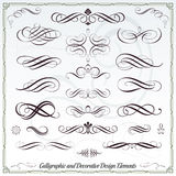 Calligraphic Decorative Elements Royalty Free Stock Images