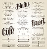 Calligraphic and decorative scroll set Royalty Free Stock Images