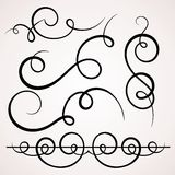 Calligraphic dekorativa beståndsdelar. royaltyfri illustrationer