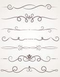Calligraphic dekorativa element stock illustrationer