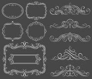 calligraphic dekorativa ramar Arkivfoton