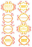 Calligraphic design border, decoration and element Royalty Free Stock Image