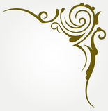 Calligraphic design element Royalty Free Stock Image
