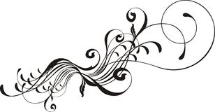 Calligraphic design element Royalty Free Stock Images