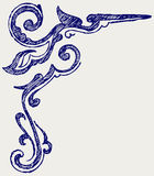 Calligraphic design element. Doodle style Royalty Free Stock Photo