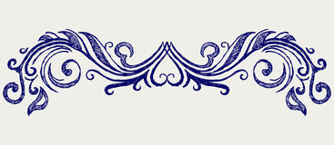 Calligraphic design element. Doodle style Royalty Free Stock Image