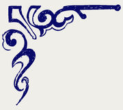 Calligraphic design element. Doodle style Royalty Free Stock Images