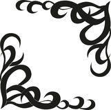 Calligraphic design element of frame and page decoration royalty free illustration