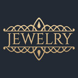 Calligraphic design element. Golden brand Stock Images