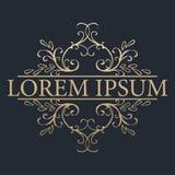 Calligraphic design element. Golden brand Stock Image