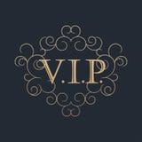 Calligraphic design element. Golden logo Stock Photos