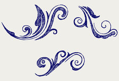 Calligraphic design element and page decoration Royalty Free Stock Photo