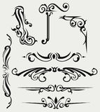 Calligraphic design element Royalty Free Stock Photo
