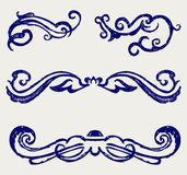 Calligraphic design element and page decoration. V Stock Photography